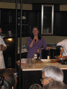 Christine presenting at the Gourmet Food and Wine Expo